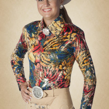 Yellow Western Show Blouse 69